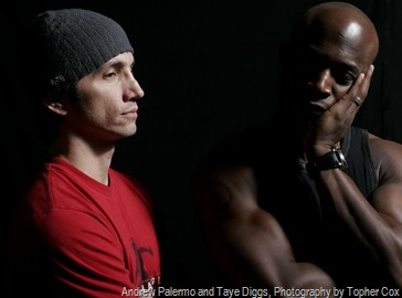 Andrew Palermo and Taye Diggs, Photography by Topher Cox