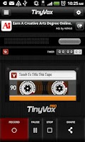 Screenshot of TinyVox · Infinite Tape Deck