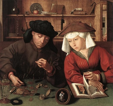 Massys, Quentin - 1514 The Moneylender and his Wife (Louvre)
