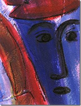 Franz Kafka Der Prozess, Gerichtsdiener in Acryl