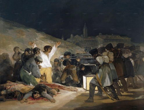 The 3rd of May 1808 in Madrid the executions on Principe Pio hill (1814)s