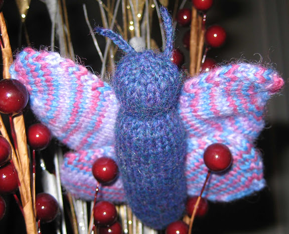 Butterfly Free Knitting Pattern from the Animals Free Knitting Patterns Categ...