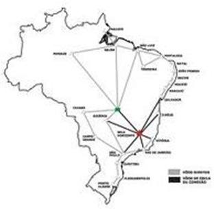 mapa de aeroportos do brasil