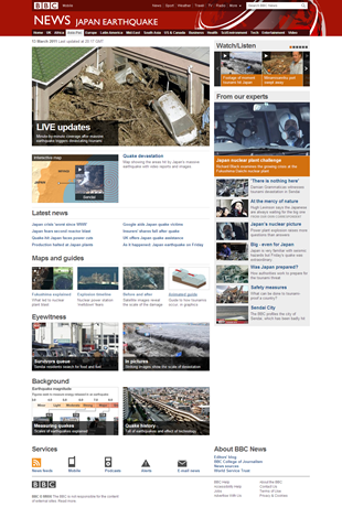 Japan earthquake report