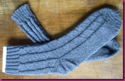 Socken mit Dreiecken