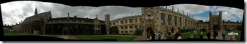 Panoramic picture at the Trinity's College