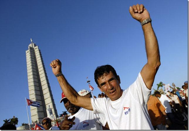 Desfile por el Primero de Mayo en la plaza de la revolución La Habana, Cuba FOTO: Roberto Suárez