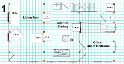 Initial plan for main floor