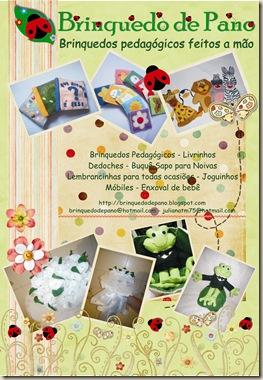 Banner brinquedo de Pano
