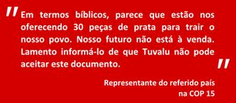 citação Tuvalu na COP15