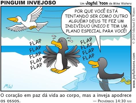 Joyful 'toon 161_Envious penguin PT.BR