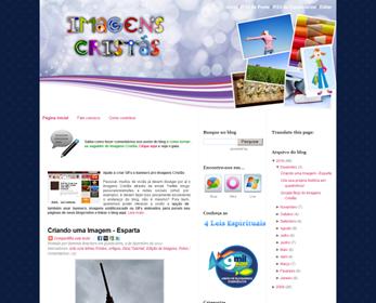 Screenshot da página do Imagens Cristãs