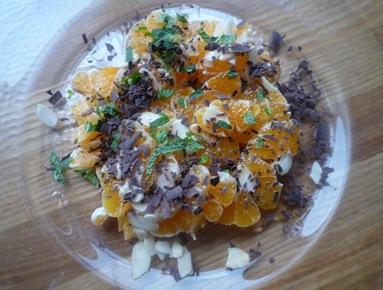 Salade de clémentine 1
