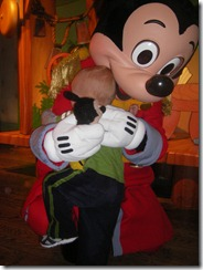 hugging mickey