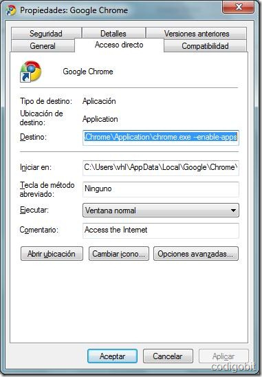 chromeenable4apps