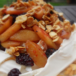Apple and Blackberry Crumble Pavlova