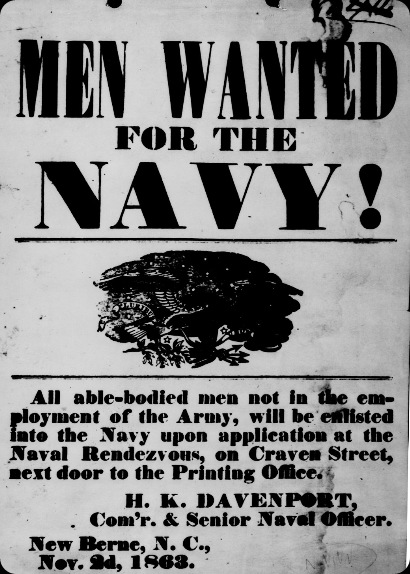 Navy Recruiting Poster 1863