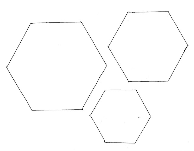 graphic regarding Printable Hexagon Template titled Patchwork Paper Templates - Residence