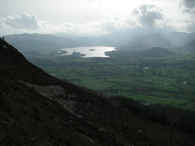 Bottom of Carl Side towards Derwent Water
