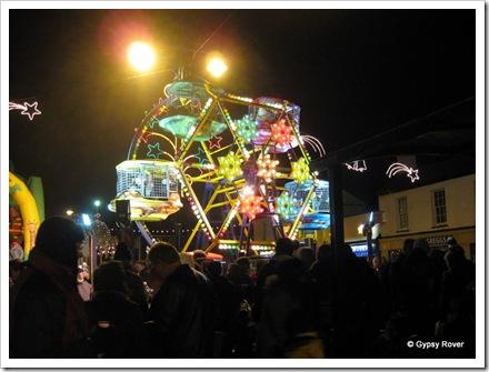 Kiddy size Ferris wheel.