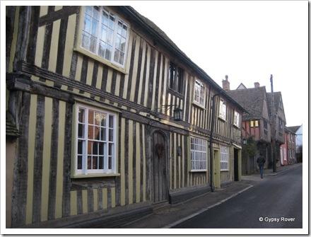 Weavers cottages circa 1340, Lavenham, Suffolk.