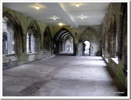 The cloisters, Kings college, Canterbury.