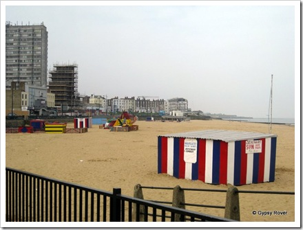 Margate beach and promenade.