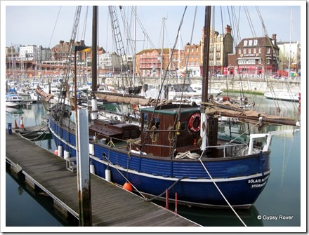 An old Scottish fishing boat at Ramsgate.