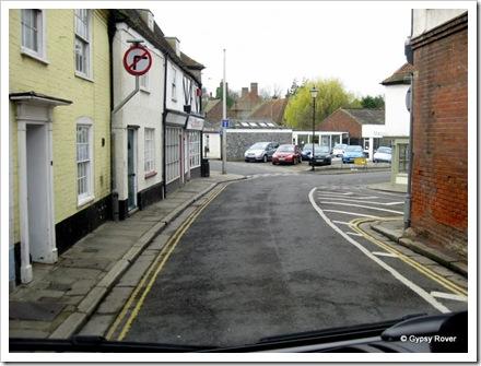 Narrow one way streets of Sandwich.