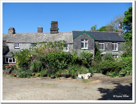 Twitchen farm CL. The front of the owners house. The house on the right (3 windows) was built 1680 so how old is the original house?