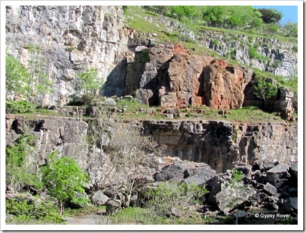 All sorts of minerals can be found in the Cheddar Gorge.