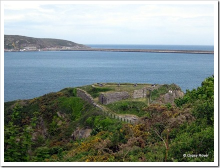 Fishguard Fort overlooking the harbour, built in 1781. Only fired in anger in 1797. Closed after 1815.