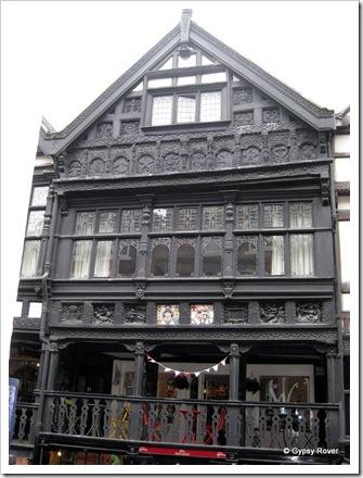 Chester's 19th century Tudor woodwork.