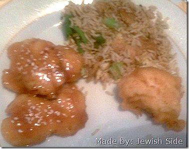 sesame chicken & Chinese Rice