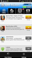 Screenshot of AppTrailers