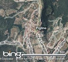 Visuale dal satellite di Figline