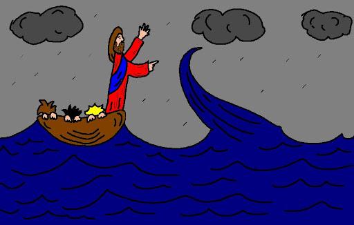 Jesus calms the storm title=