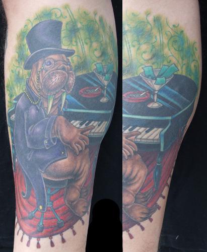 Tattoo Walrus Piano Tattoo
