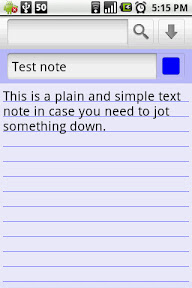 This is how a plain text note appears. Again you can choose the color of the note here itself