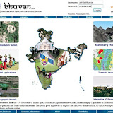 The Bhuvan homepage. This page gives you a snapshot of the various uses for Bhuvan.