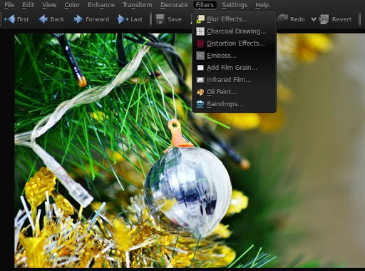 """The """"Filters"""" menu allows you to add slightly more advanced effects to your selected="""
