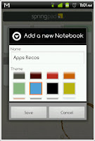 You can add new Notebooks (collections of notes) with their own color for differentiation