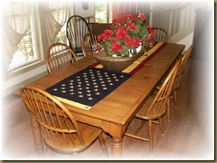 Table with Flag 3