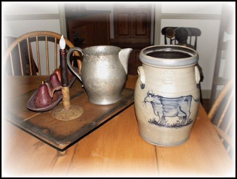 Pewter Pitcher and crock