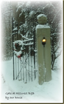 Gate at B&B by our house