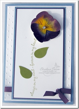 pansy butterfly card