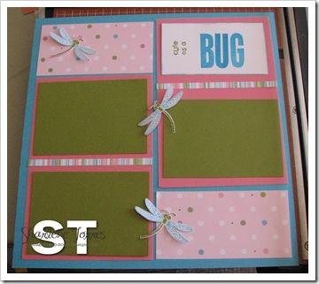 cute as a bug scrapbook layout