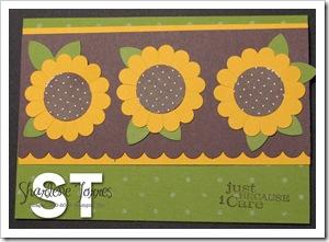 sunflower punch card