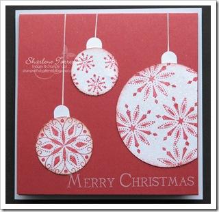 Christmas ornament circles
