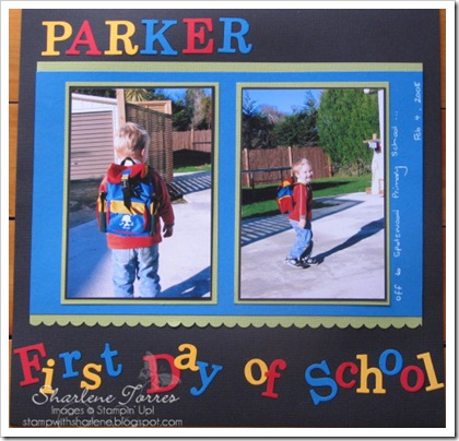parler First Day of School layout